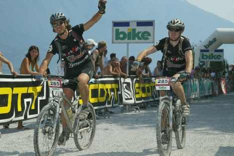 Transalp 2006, finish in Limone.