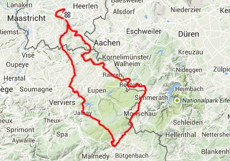 Knipsel kaart Hautes Fagnes